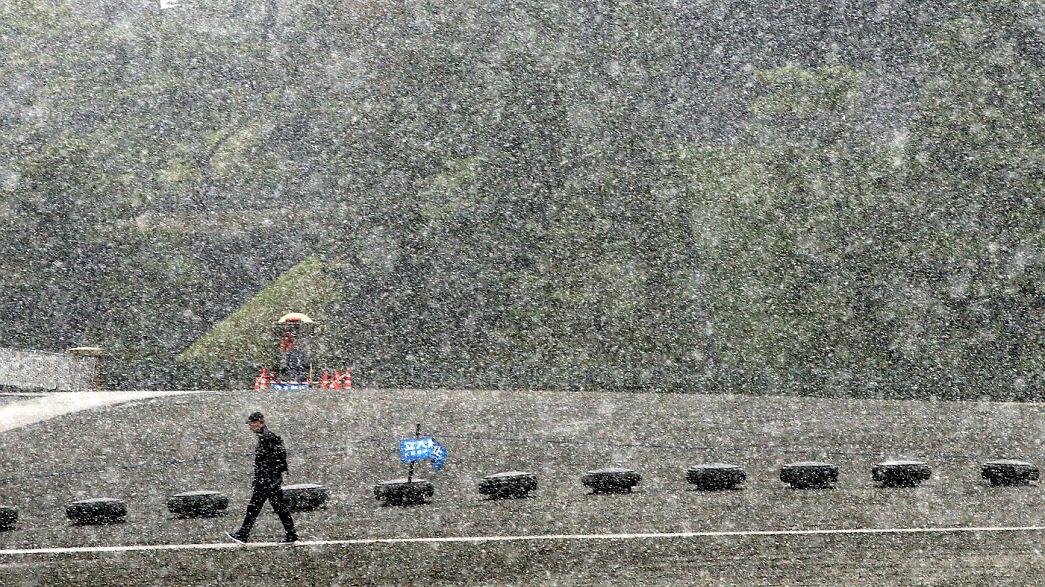 Il n'avait pas neigé à Tokyo depuis 1962