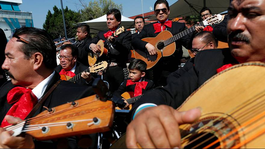 Mariachis mark the Feast of Saint Cecilia, the patron saint of musicians