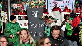 Massenprotest gegen Sparpolitik in Belgien