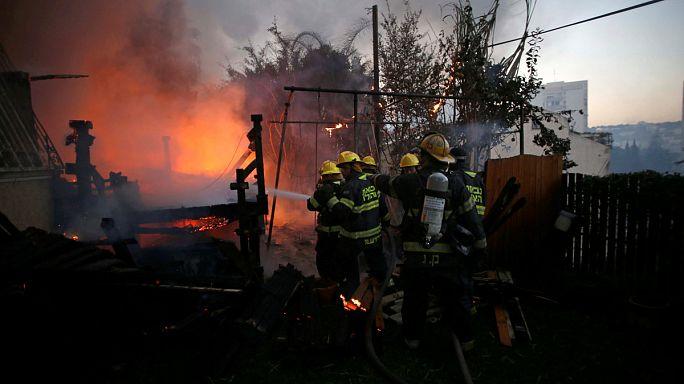 إجلاء عشرات الآلاف من مدينة حيفا شمال إسرائيل بسبب الحرائق