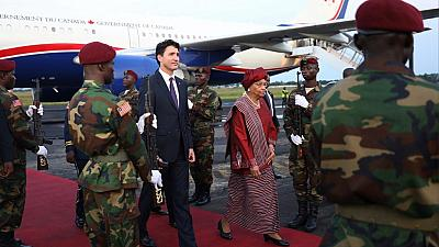 Le Premier ministre canadien Justin Trudeau en visite au Liberia