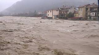 Torrential rains cause widespread flooding in northern Italy
