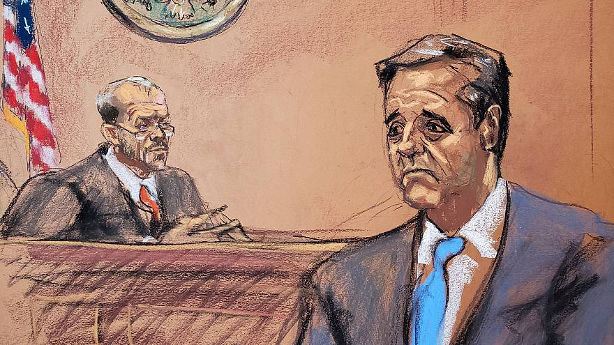 Image: Michael Cohen speaks during his sentencing hearing as Judge William