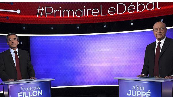 Fillon vs. Juppé: último debate entre los dos aspirantes del centro-derecha francés