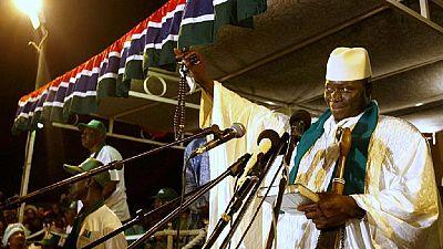 Yahya Jammeh, grand favori de l'éléction présidentielle en Gambie