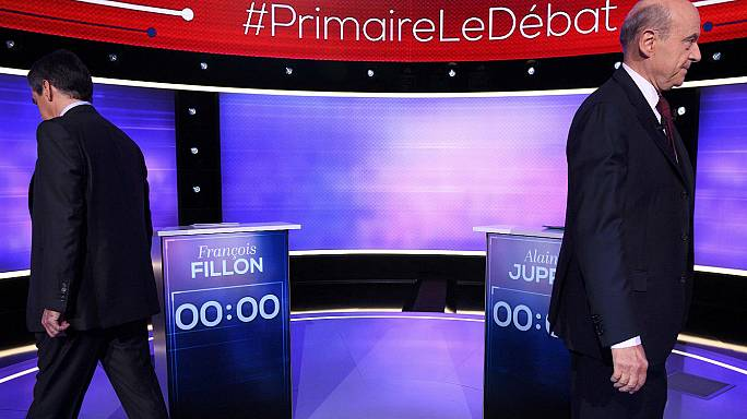 François Fillon v Alain Juppé: French centre-right rivals face off