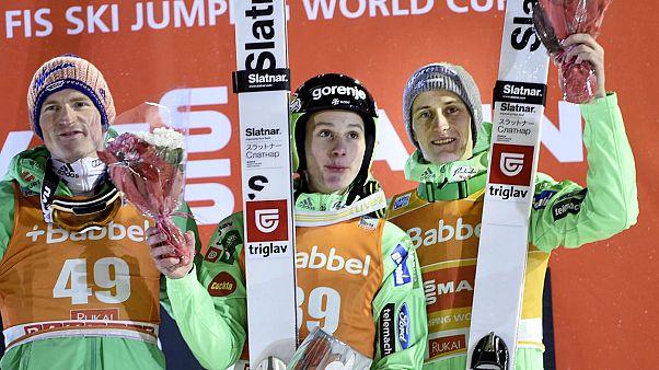 دومين بريفيك يتفوق على شقيقه الأكبر في بطولة العالم للقفز على الجليد