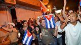 Майами: кубинские иммигранты празднуют смерть Кастро