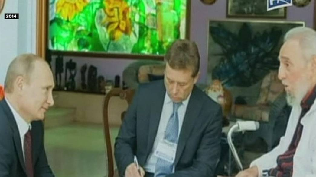 "Putin e Gorbachov lembram ""velho aliado"" Fidel"