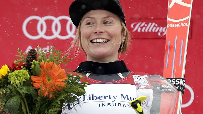 Alpine skiing: Worley snaps winless drought in Killington