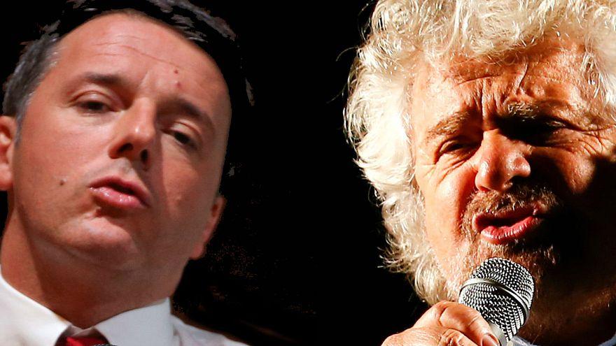 Referendum: Grillo e Renzi lanciano la volata per l'ultima settimana di campagna