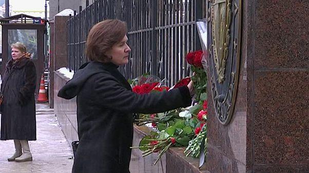 Rusia: flores para Castro