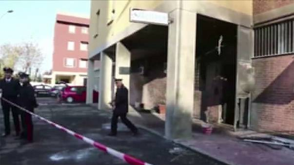 Blast at police barracks in Bologna hours before Italian Prime Minister Renzi's visit