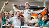 Nico Rosberg wins Abu Dhabi Grand Prix, follows his dad's 1982 win