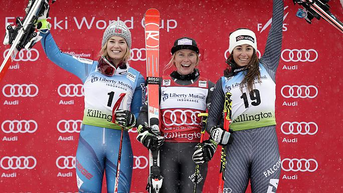 Worley and Shiffrin secure slalom ski wins