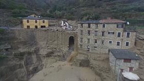 Italy: drone footage shows extent of landslide damage