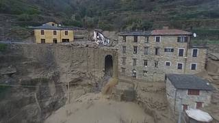 İtalya: İHA görüntüleri heyelanın boyutlarını gözler önüne serdi
