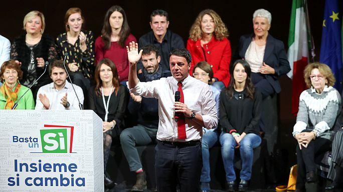 الإصلاح الدستوري يضع مصير رينزي على المحك