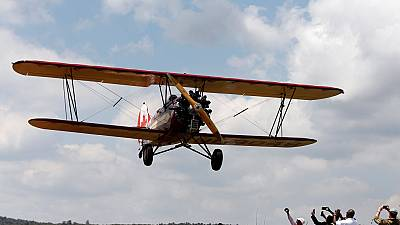 Vintage aircraft aerial show continues its 'African journey'