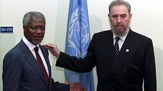 How Kofi Annan and over a dozen African leaders mourned Fidel Castro
