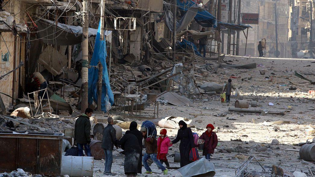 فرار الاف المدنيين من الأحياء الشرقية بحلب