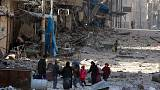 Exode sans précédent à Alep