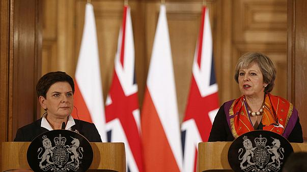 Theresa May and Beata Szydlo meet at 10 Downing Street as Britain seeks to strengthen ties with Poland before Brexit