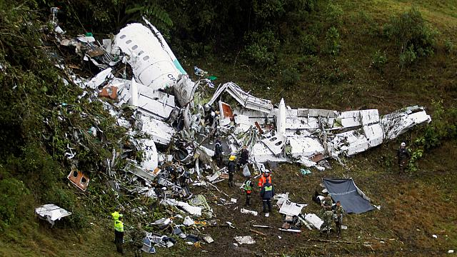 At least 6 survive plane crash over Colombia, including 3 Chapecoense footballers