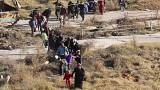 Thousands flee Aleppo fighting
