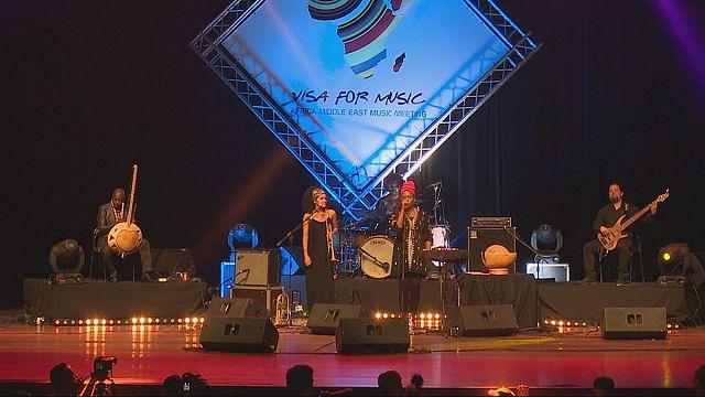 Música sobre el escenario de Visa for Music en Rabat