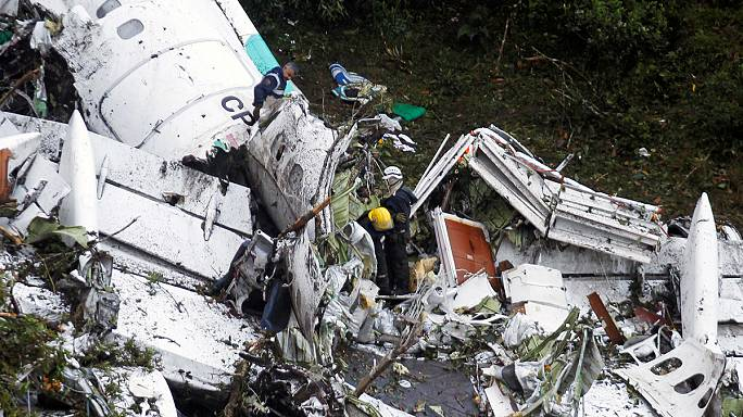At least 71 killed as plane carrying Brazilian football club crashes in Colombia
