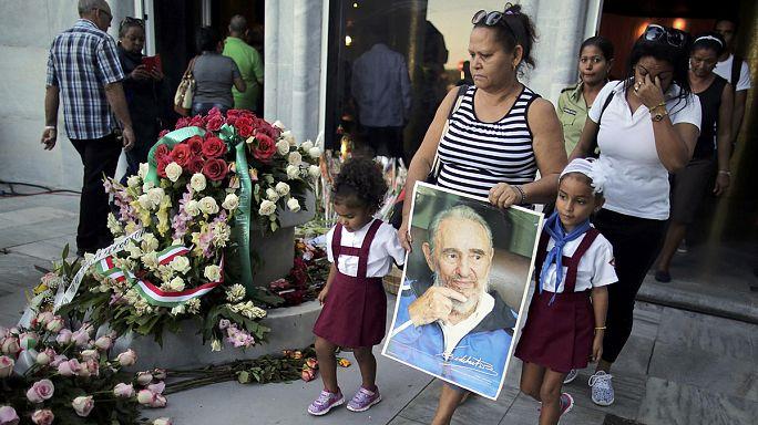 Leader mondiali a Cuba per l'ultimo omaggio a Fidel Castro