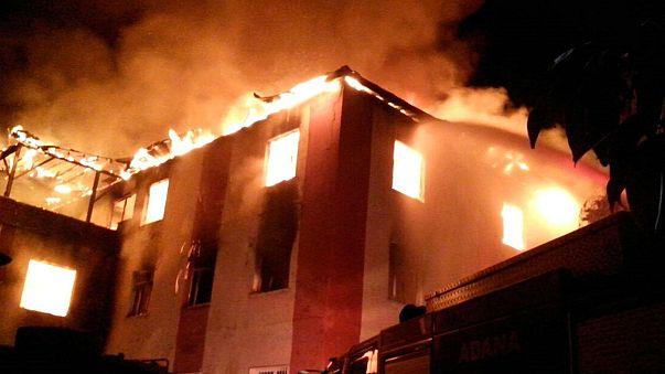 Turkey: Fire at schoolgirls' dormitory kills 12
