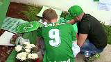 Iconic statue shrouded in green for Chapecoense