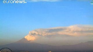 Mexico's Popocatepetl Volcano spews ash