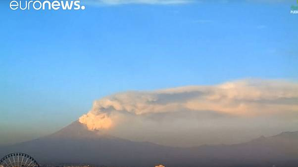 Mexico's Popocatepetl Volcano spews ash