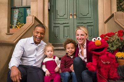 "Craig got to bring the whole family to ""Sesame Street,"" as he was joined by wife Lindsay Czarniak, and their children, Sybil and Del."