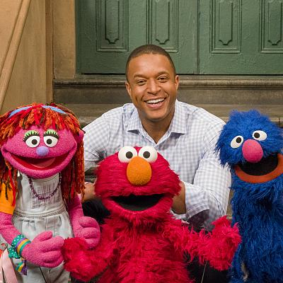 Craig Melvin went to Sesame Street to meet with Lily (at left), a Muppet experiencing homelessness, and her friends Elmo and Grover to talk about a serious issue that millions of children face.