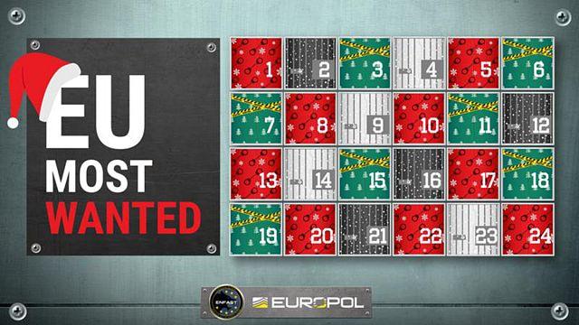 """""""Adventskalender"""" von Europol zeigt meistgesuchte Verbrecher"""
