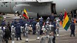 Rapatriement des dépouilles des 71 victimes du crash en Colombie