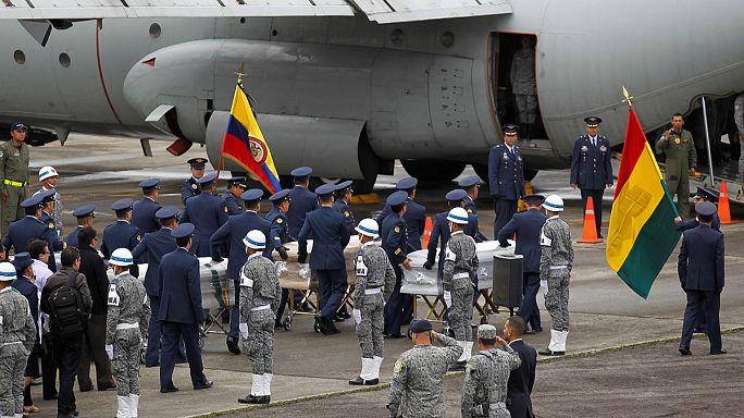 Колумбия: кадры с выжившим в авиакатастрофе