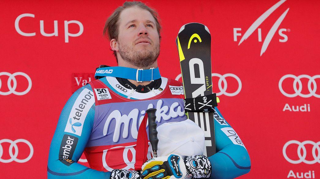 كأس العالم للتزلج الألبي: النرويجي يانسرود يتفوق على مواطنه سفيندال