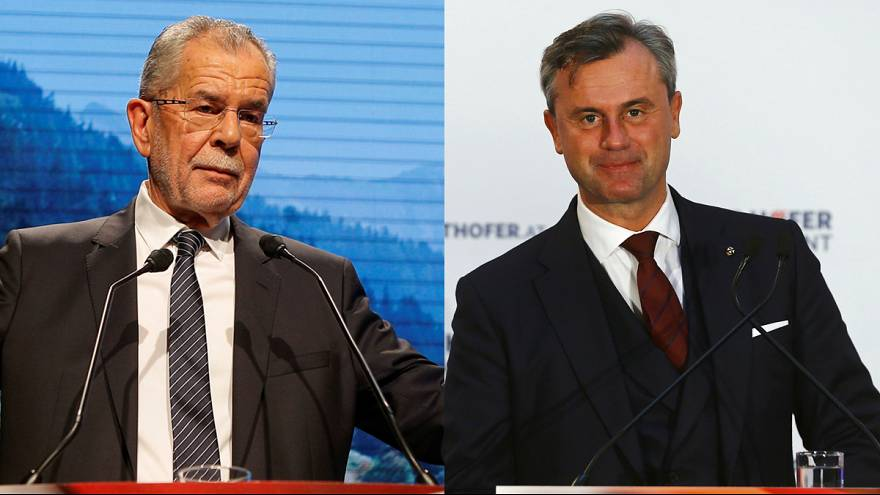 Austria verso il voto. La scelta è tra il verde Van Der Bellen e il leader dell'estrema destra Hofer