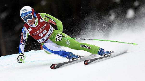 Slovenia's Ilka Stuhec secures downhill event at Lake Louise