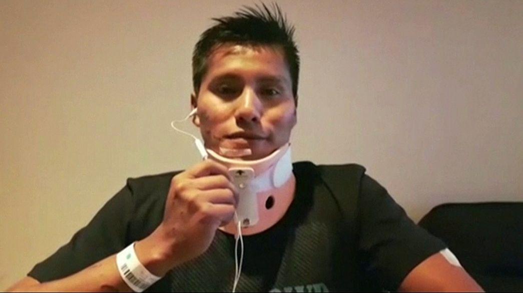 Erwin Tumiri, um dos seis sobreviventes do Chapecoense recebe alta