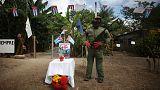 Santiago Castro'nun cenaze törenine hazırlanıyor