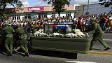 Castro'nun külleri nihai tören için Santiago de Küba'ya ulaştı