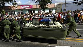 Fidel Castro's funeral procession reaches final destination