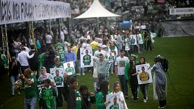 Thousands attend memorial for Chapecoense football team
