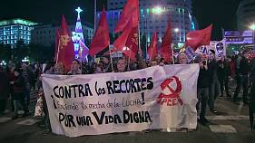 Madrid protests austerity despite minimum wage increase